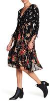 Angie Floral Faux Wrap Midi Dress