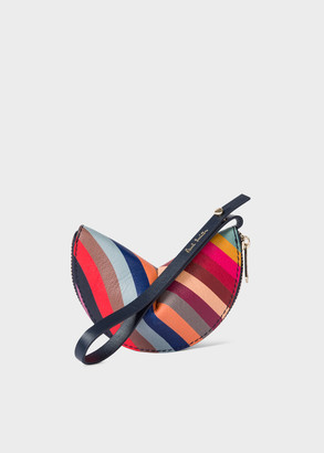 Paul Smith Women's Swirl 'Half Moon' Leather Keyring Pouch
