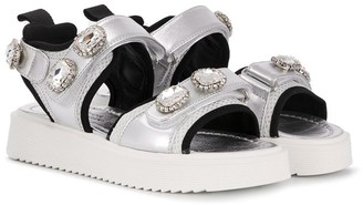 Andrea Montelpare TEEN embellished touch-strap sandals