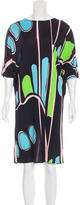 Issa Abstract Print Knee-Length Dress