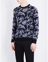 Armani Jeans Camouflage-print Knitted Jumper