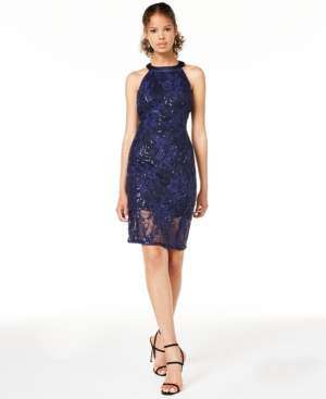 Jump Juniors' Strappy Lace Bodycon Dress, Created for Macy's
