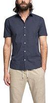 Esprit Men's 50S Aop Poplin Regular Fit Short Sleeve Casual Shirt