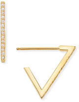 Chicco Zoe 14k Pave Diamond Triangle Earrings