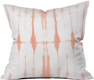 Deny Designs Amy Sia Agadir Peach Square Throw Pillow