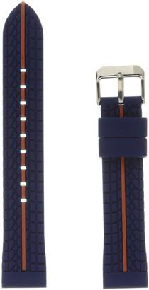 Hadley Roma MS3356RAG220 Blue Silicone Watch Band