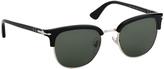 Persol Black & Green Browline Sunglasses
