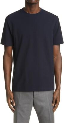 Thom Browne 4-Bar Back Stripe Pique T-Shirt