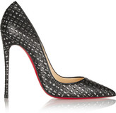 Christian Louboutin - So Kate 120 Cutout Leather And Tweed Pumps - Black