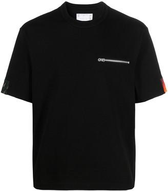 Sacai zip-chest pocket T-shirt