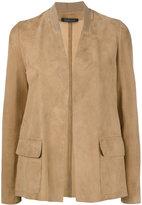 Almarosafur - classic blazer - women - Leather - 42