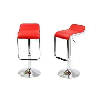 Martino of Canada Orren Ellis PU Leather Square Seat Adjustable Height Swivel Bar Stool Orren Ellis Color: Red