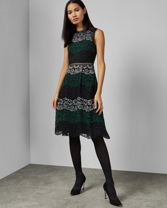 Ted Baker INARRA Color block lace dress