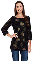 As Is Linea by Louis Dell' Olio Textured 3/4 Sleeve Knit Top