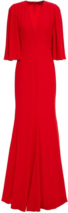 Alexander McQueen Fluted Crepe Gown