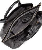 Nancy Gonzalez Center-Zip Crocodile Tote Bag, Gray