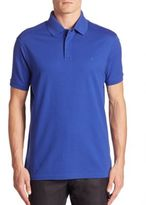 Ralph Lauren Purple Label Stretch-Cotton Zip Polo