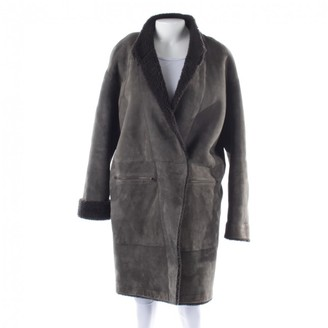 N. 32 Paradis Sprung Freres \N Grey Leather Coats