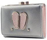 Mumoo Bear Bunny Ear Wallet Glitter Rabbit Credit Card Holder Coin Purse for Teen Girls and Women