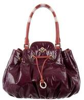 Emilio Pucci Leather-Trimmed Vinyl Bag