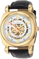 Akribos XXIV Men's AKR479YG Bravura Skeleton Automatic Square Gold Tone Watch