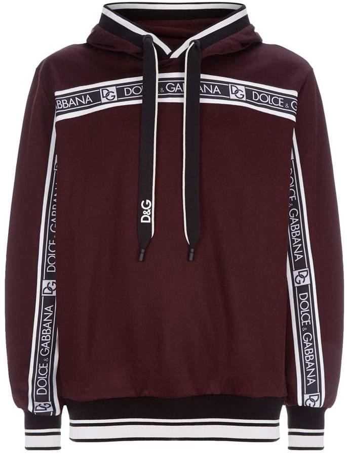 Dolce & Gabbana Logo Stripe Hoodie