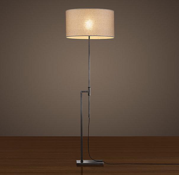 Restoration Hardware Menlo Floor Lamp - Aged Steel