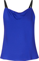 Milly Draped silk-blend camisole