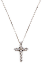 Ila Women's Tiffany White Gold Diamond Cross Necklace