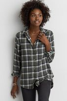American Eagle Outfitters AE Ahh-mazingly Soft Long Sleeve Plaid Shirt