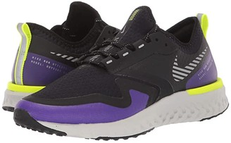 Nike Odyssey React 2 Shield (Black/Metallic Silver/Voltage Purple) Women's Running Shoes