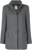 Fay knitted panel coat