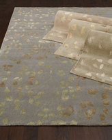 Horchow Tufted Leaves Rug, 6' x 9'