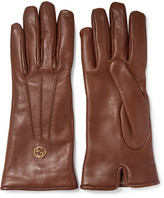 Gucci Leather Gloves - Brown
