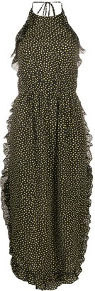 See by Chloe Open Back Polka Dot Print Dress