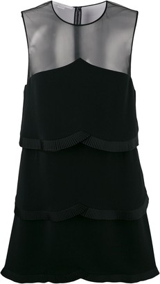 Stella McCartney sheer panel layered dress