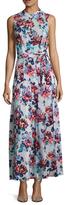 Mary Katrantzou Violet Silk Print Tea Length Dress
