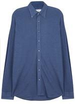 Oscar Jacobson Harry Navy Cotton Jersey Shirt