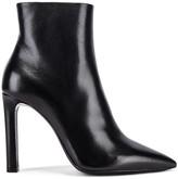 Saint Laurent Kate Zip Booties in Black | FWRD