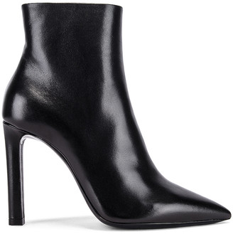 Saint Laurent Kate Zip Booties in Black | FWRD