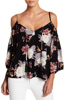 Socialite Cold Shoulder Floral Top