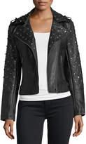 Glamorous Studded Faux-Leather Jacket