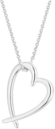 Simply Silver Sterling Silver 925 Open Heart Pendant
