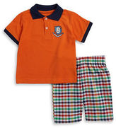 Nannette Boys 2-7 Two-Piece Cotton-Blend Polo and Shorts Set