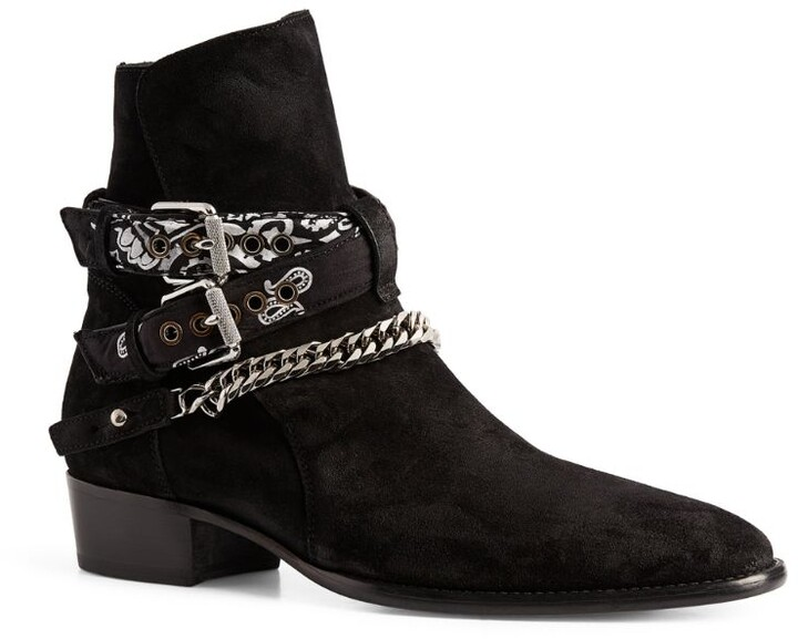 Amiri Suede Buckle Ankle Boots