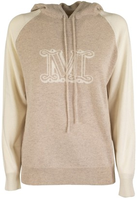 Max Mara Liegi Cashmere Hooded Sweater With Logo