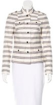 Tory Burch Striped Button-Up Jacket
