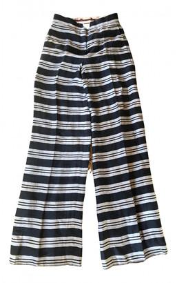 Max Mara Blue Linen Trousers