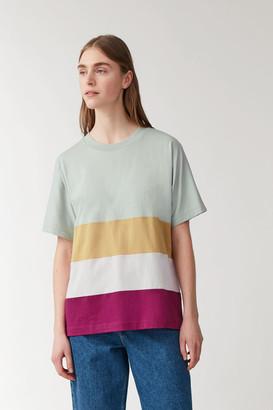 Cos Multi-Panel Striped T-Shirt