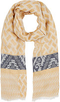 Barneys New York WOMEN'S BLOCK-PRINT SCARF